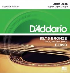 D'Addario EZ890 AMERICAN BRONZE 85/15